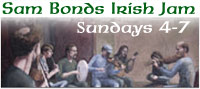 Irish Jam every Sunday 4-7